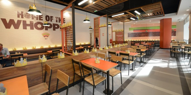 Burger king launch new interior re design in paris for Interior design concept package