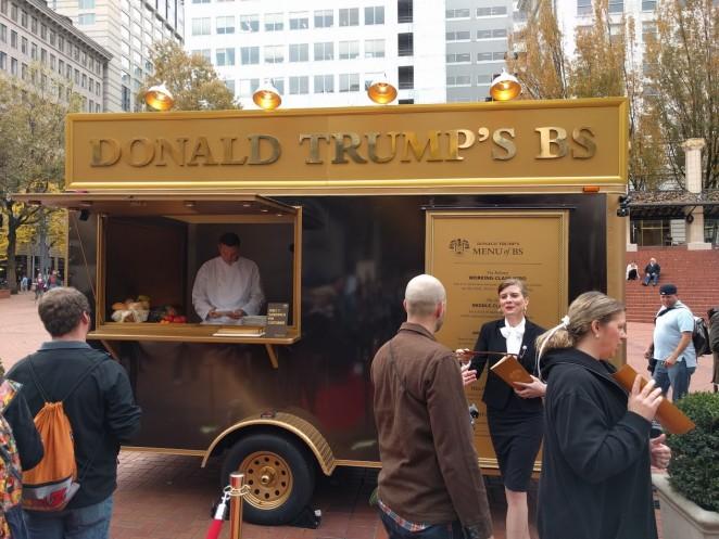 news agency serves donald trump portland food truck