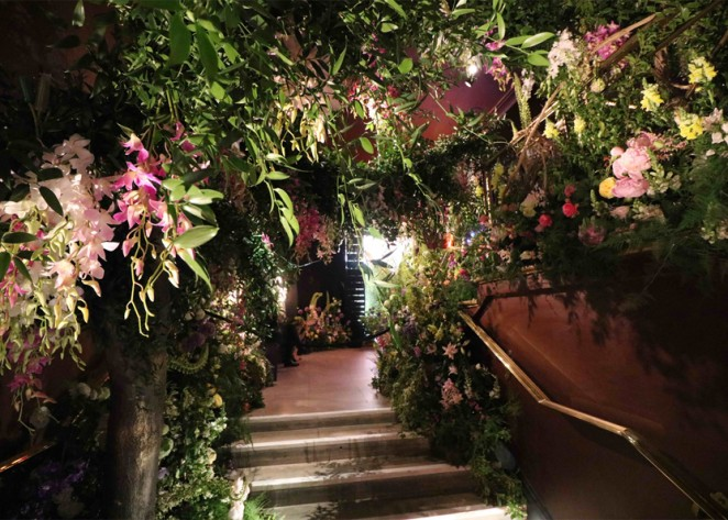 Sketch Restaurant Is Filled With Flowers To Celebrate