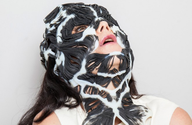 Björk maps her own muscular structure in 3D printed mask with Neri Oxman
