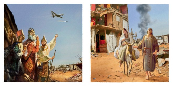 Mccann London S Christmas Cards Juxtapose Nativity Scenes With War