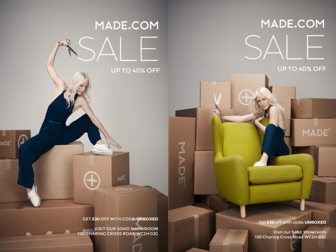 made com focuses on the joy of unboxing in january sale. Black Bedroom Furniture Sets. Home Design Ideas