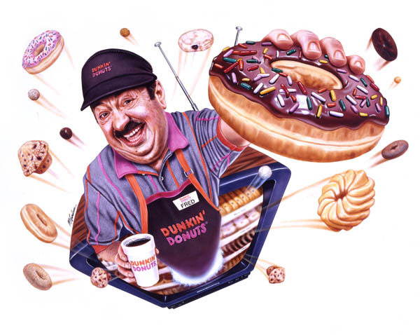 "Fred The Baker from Dunkin Donuts Classic ""Time To Make Donuts!"" Commercial"