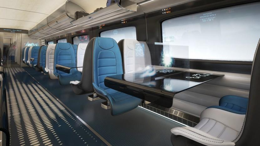 The futuristic luxury interiors of the British Bullet Train