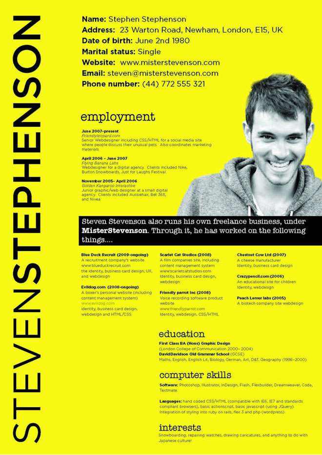 creative resume designs 26jpg - Creative Resume