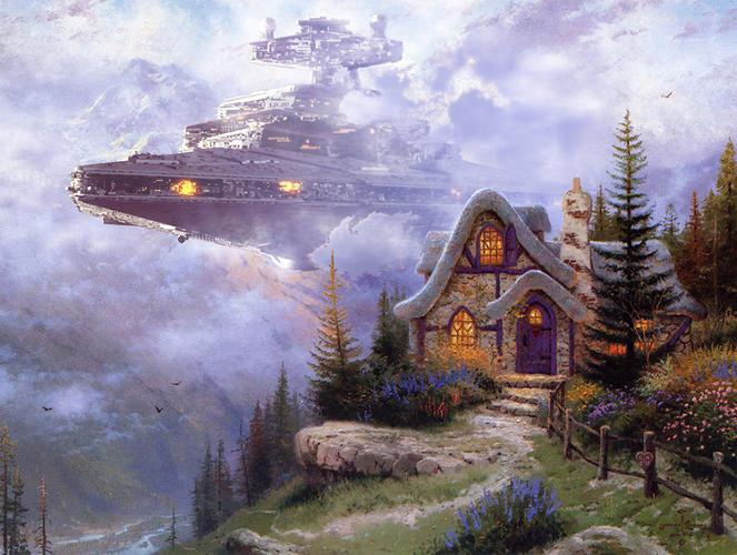 Starwars Thomas Kinkade